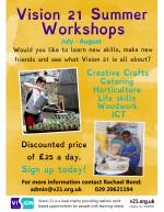 Vision 21 Summer Workshops